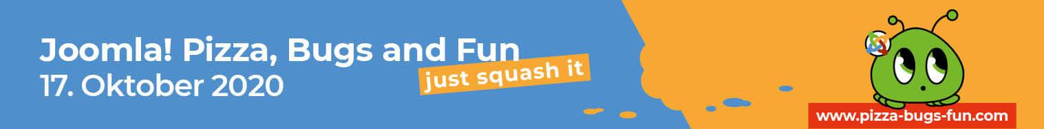 Joomla! Pizza, Bugs and Fun - am 17 Oktober 2020